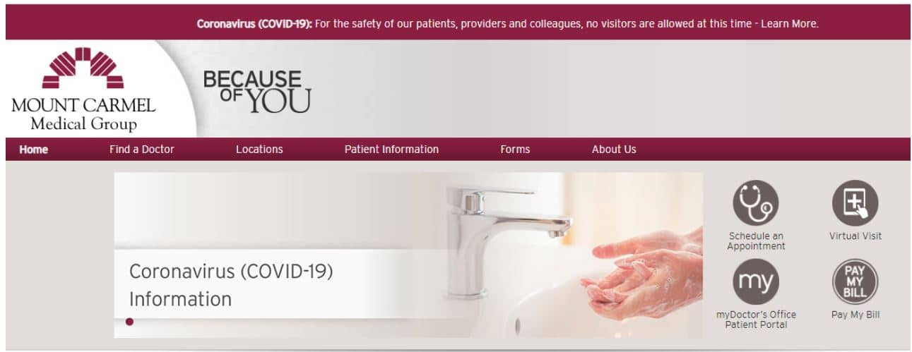 Mount Carmel Medical Group Home Page
