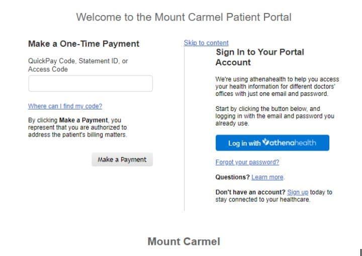 Mount Carmel Medical Group-Patient Portal